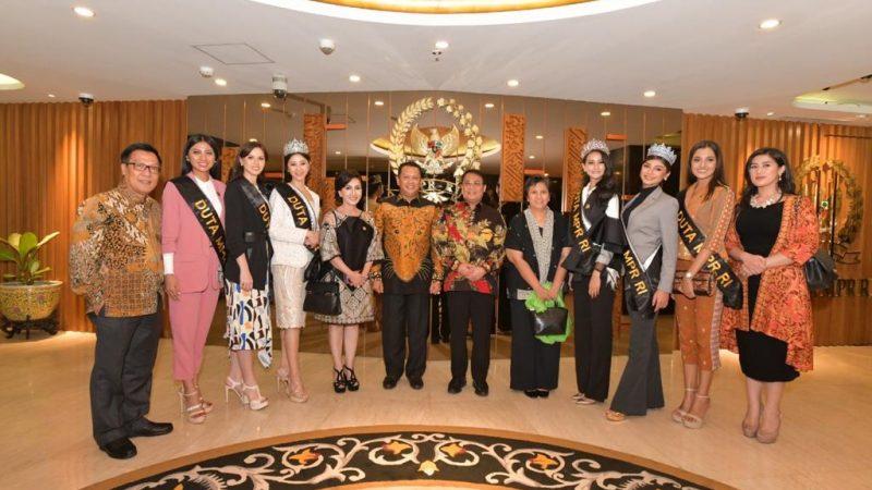 MPR RI Angkat Finalis Puteri Indonesia Sebagai Duta Empat Pilar MPR RI