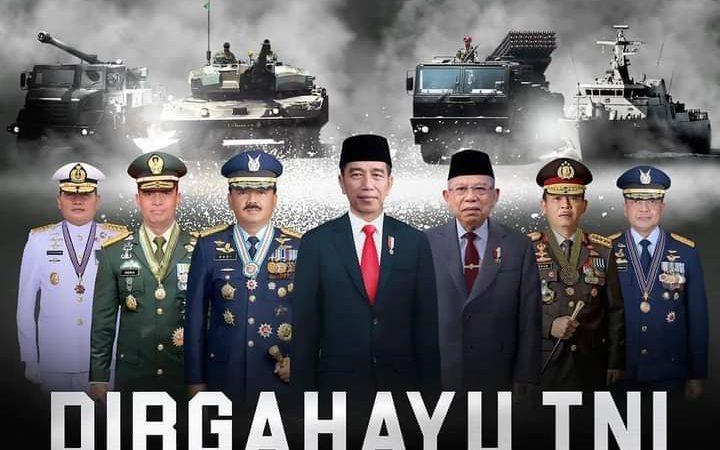 DIRGAHAYU  TNI; SINERGI UNTUK NEGERI
