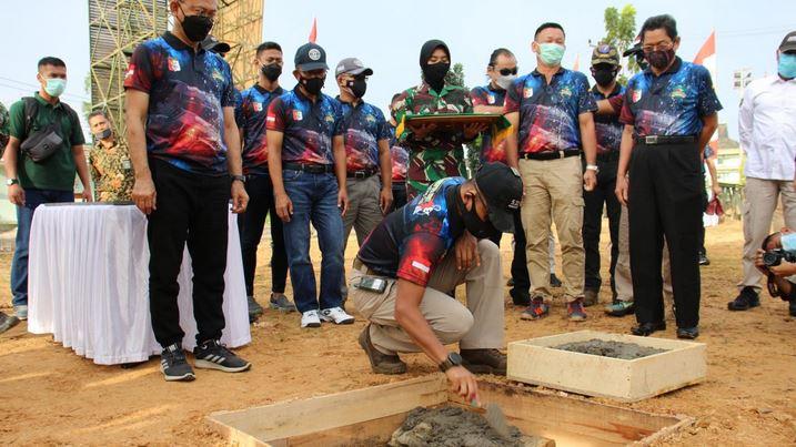 Pangdam XII/TPR dan Ketua Umum Perbakin Kalbar Letakkan Batu Pertama Pembangunan Lapangan Tembak TASC