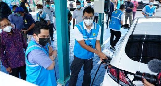Erick Thohir;  Tegaskan Kesiapan Indonesia Jadi Pemain Utama Industri Mobil Listrik