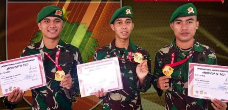 Membanggakan, Tiga karateka Kodam XIV/ Hasanuddin Raih Medali Tingkat Nasional dan Internasional