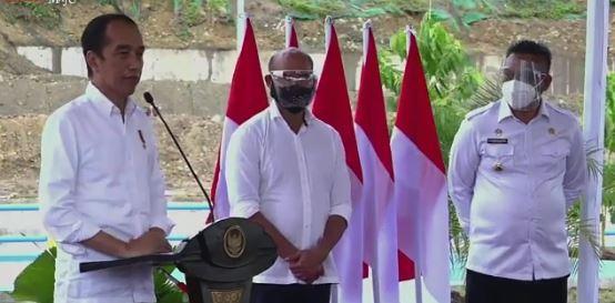 Presiden Jokowi,  Resmikan Bendungan Napun Gete Tingkatkan Produktivitas Pertanian dan Peternakan di  NTT
