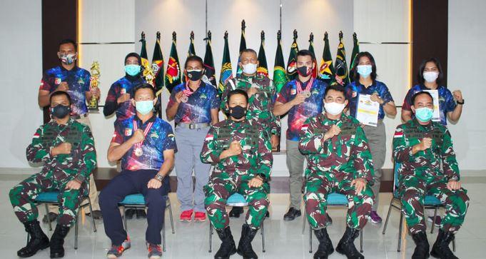 Tim Tembak Tanjungpura Army Shooting Club, dapat Apresiasi Pangdam XII/TPR
