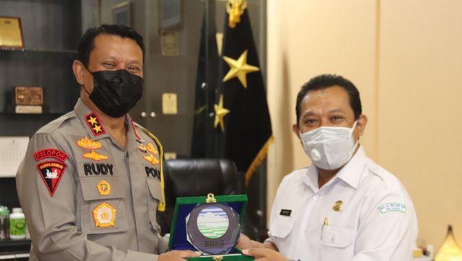 Kapolda Banten Terima Kunjungan dari Pengurus BMKG Provinsi Banten
