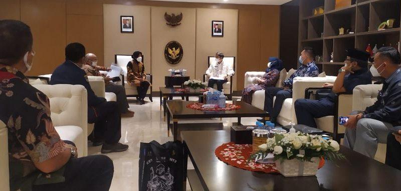Bersama Walikota dan DPRD, Karang Taruna Sawahlunto Audiensi dengan Mensos