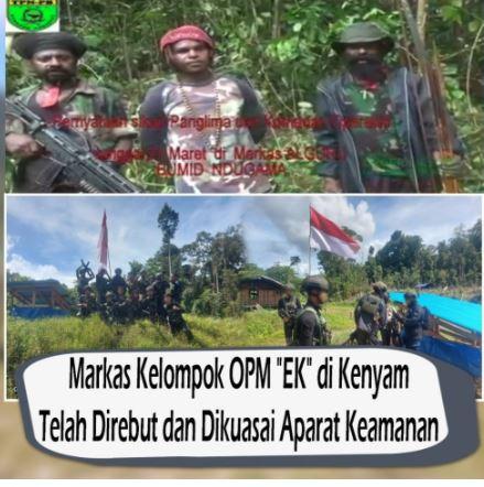 Markas OPM Satu Persatu Berhasil Dikuasai TNI-Polri,Egianus Kogoya Makin Terdesak