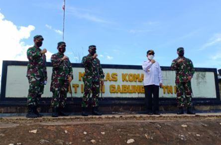 Pangdam VI Mulawarman Tinjau Mako Latgab di Sekrat, Kutai Timur