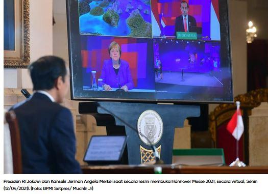 Kanselir Jerman Angela Merkel: Hannover Messe 2021 Berikan Dampak Peningkatan Ekonomi Jerman dan Indonesia