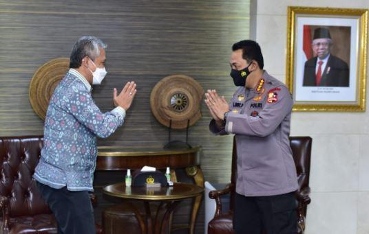 Dirjen Bea Cukai Askolani, Silaturahmi Kapolri Minta Dukungan Naikan PNBP