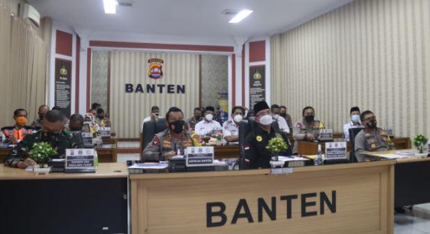 Polda Banten Ikuti Rakor Lintas Sektoral, Jelang Libur Idul Fitri dan Larangan Mudik