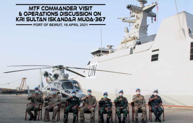 KRI Sultan Iskandar Muda-367, Dikunjungi  Komandan MTF Lebanon   di Pelabuhan Beirut