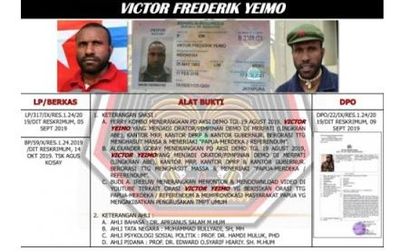 Satgas Nemangkawi, Tangkap  Vikior Yeimo DPO  Kasus Kerusuhan Papua 2019