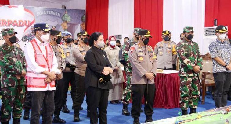 Puan Maharani, Kapolri, Panglima TNI dan Sejumlah Menteri Pantau Penyekatan Mudik di Brebes