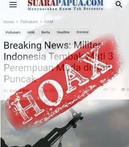 Kelompok Teroris OPM Makin Terdesak, Media dan Tokoh Pendukungnya Sebar Berita Fitnah dan Hoaks