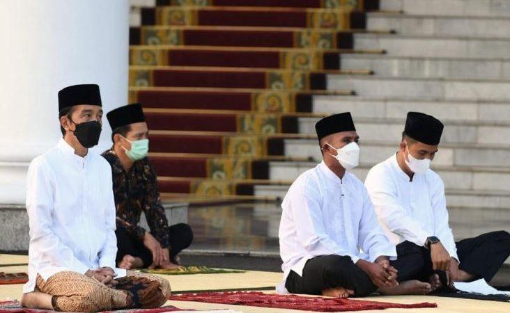 Presiden Joko Widodo, Sholat Id di Istana Kepresidenan Bogor, Idul Fitri Momentum Bangkit