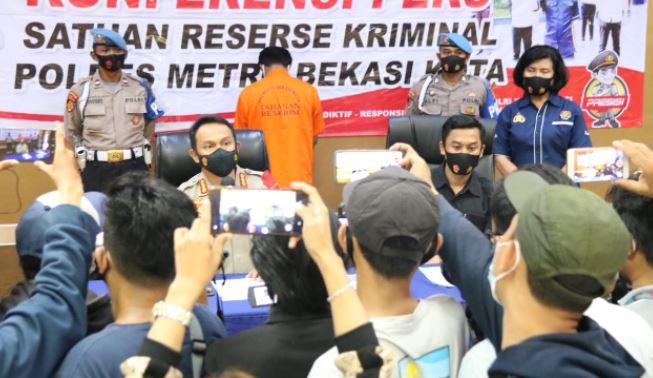 Konferensi Pers Polres Metro, Bekasi Kota; Pidana Persetubuhan di Bawah Umur di Bekasi