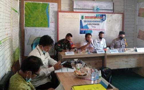 Kopda Purwanto Melaksanakan Pendampingan Evakuasi Dana Desa dan Alokasi Dana Desa Tahap I T.A 2021