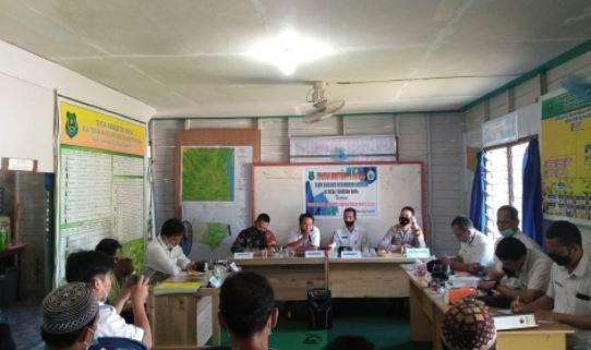 Kopda Purwanto Melaksanakan Pendampingan Evaluasi Dana Desa dan Alokasi Dana Desa Tahap I T.A 2021
