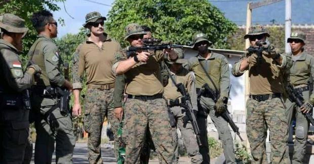 Latihan Bersama Antara Marinir Indonesia dan USA dengan Materi Small Unit Tactical dan Mont