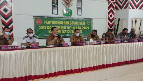 Kewaspadaan Satgas TMMD Tapsel, Peningkatan Kasus Positif Covid-19 di Indonesia