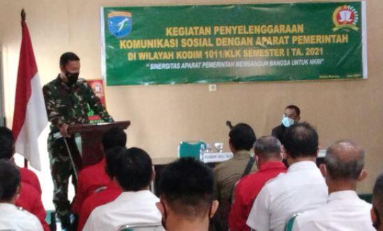 Dandim 1011/Klk Letkol Inf Ary Bayu Saputro, S. Sos Mengucapkan Terima Kasih kepada Panitia Kegiatan