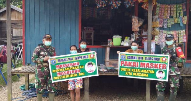 Danramil 11// Melakasanakan Sosialisasi Prokes ke Warga Desa Sei Pinang