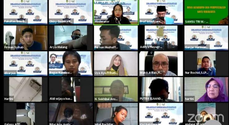 Asep Yudha Wirajaya Lestarikan Naskah Kuno,  Webinar FIB UNS