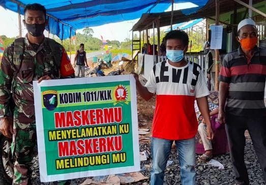 Koramil 05/Pulau Petak Monitoring Desa Tangguh Tangkal Covid-19