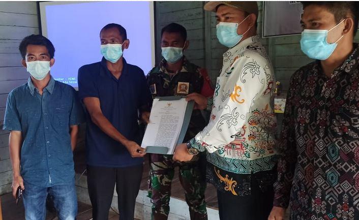 Koramil 1011-15/Kahayan Hilir Mengikuti Rapat Musyawarah Desa
