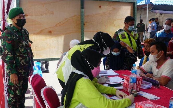 Kodim 1011/Kuala Kapuas Gelar Serbuan Vaksinasi Covid-19 Untuk Masyarakat