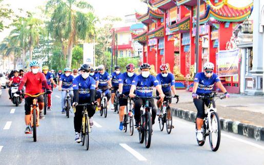 Gowes Bersama Pangdam Tanjungpura