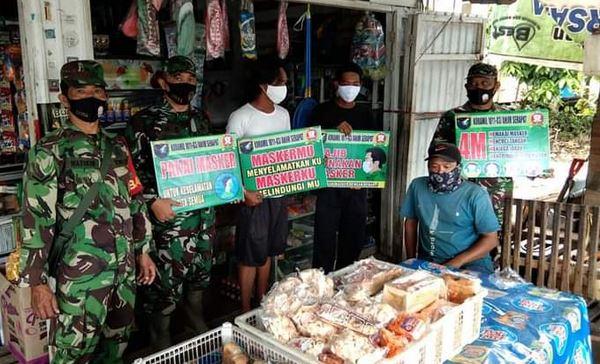 PPKM Berlaku, Anggota Babinsa Kunjungi  Pasar
