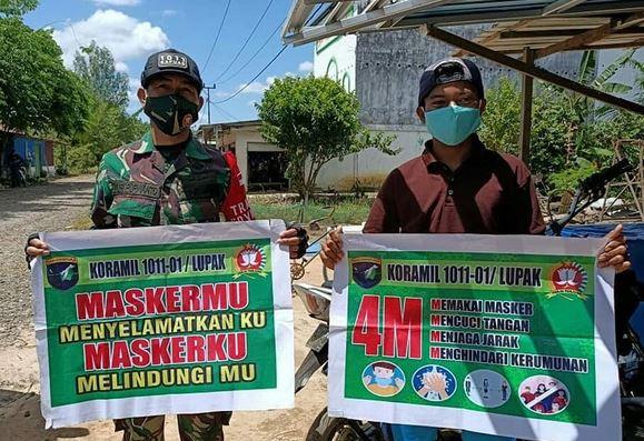 Tak Kenal Lelah, Babinsa Koramil 01/Kapuas Kuala Sosialisasi 4 M