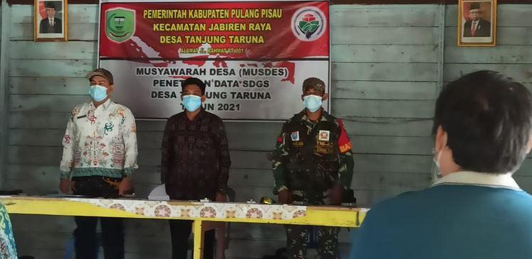 Praka Muhammad Amin Monitoring Rapat Musyawarah Pembangunan Desa TA.2021