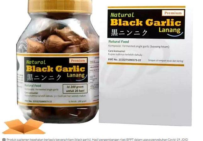 Keren, BPPT Kembangkan Suplemen Black Garlic hingga Beras Fortivit  Cegah Covid-19