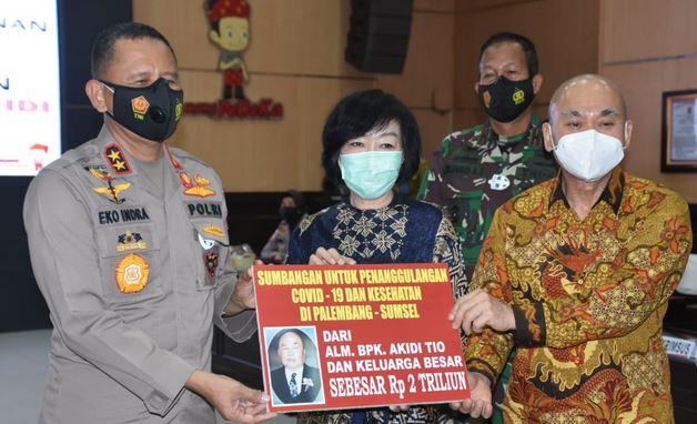 Berbakti Untuk Negeri, Pengusaha Asal Aceh Hibah 2 Triliun ke Polda Sumsel untuk Penanganan Covid 19.