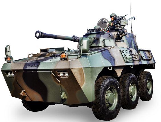 """Panser """"Badak"""" 6 x 6 Kanon 90 mm"""
