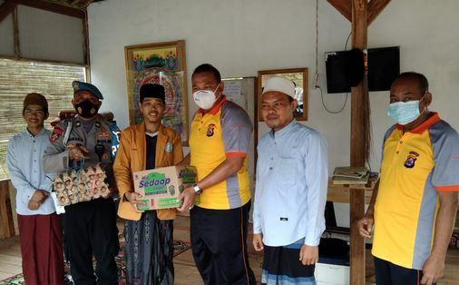 Tim Warung Jum'at Berkah Bidpropam Polda Banten Kunjungi Ponpes Ainul Amanah Umah