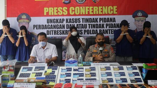 Empat Penjual dan Pembeli Online Shop Fiktif Diamankan Ditreskrimsus Polda Banten