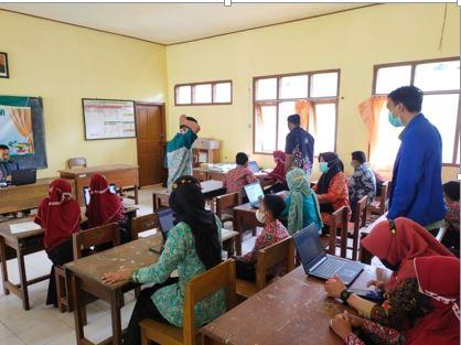 Mahasiswa PPL STKIP PGRI Kelompok 6, Giat Pendampingan AKM di  SDN 2 Candi