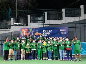 Jatim Sukses Sapu Bersih Emas Tenis PON XX Papua, LaNyalla Bangga