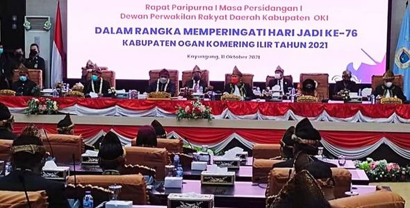 DPRD Sukses Gelar Rapat Paripurna Istimewa HUT ke-76 Kabupaten OKI