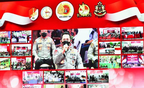 TNI-Polri Bersinergi Wujudkan Program Presiden Jokowi Serbuan Vaksinasi